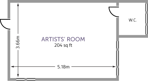 Conway Hall Artists Room