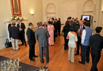 Asia House venue - A drinks reception in the Fine Room