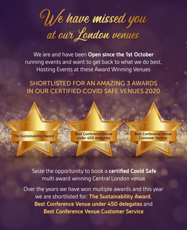 Best Conference Venue, Best Conference Venue Customer Service, The sustainability award