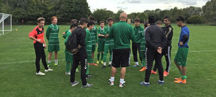 Interwood FC - Post match debrief with coach Dave and Danny Bailey