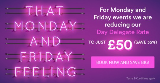 Save big on Mondays and Fridays