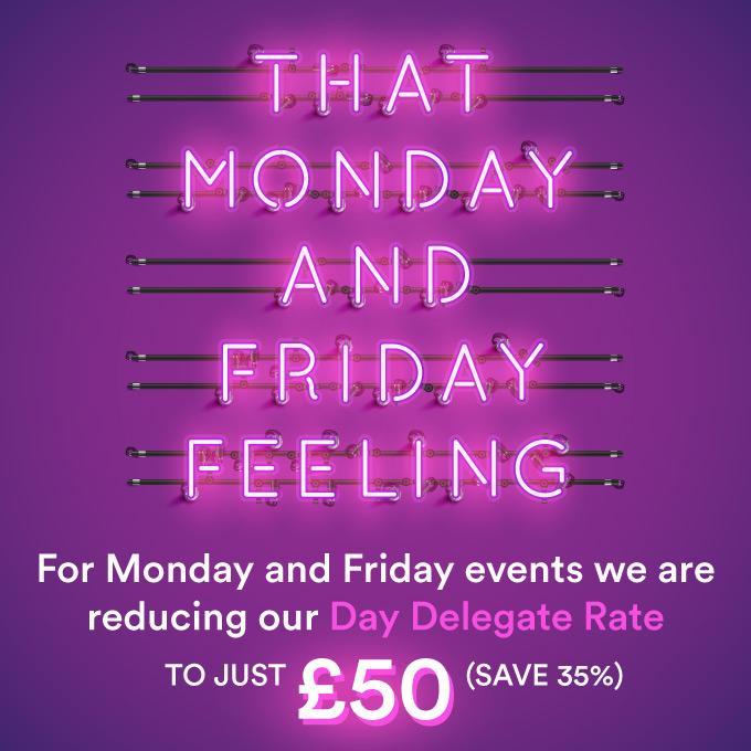 Save big on Mondays and Fridays