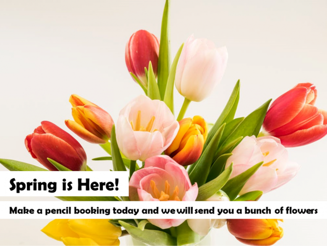 Bunch of Flowers | New bookings | Conference Centres | Meeting Rooms | Training Rooms | Workshop Venues | Cavendish Venues