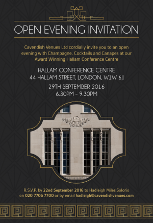 Open-Evening-Hallam 290916-Invitation
