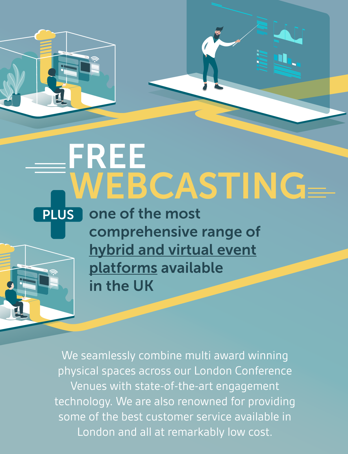 Free Webcasting – Hybrid & Virtual Events