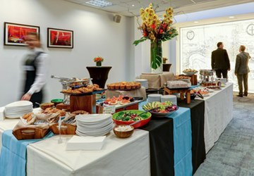 Catering at the America Square venue, London