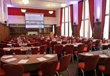 Hallam Council Chamber, cabaret layout