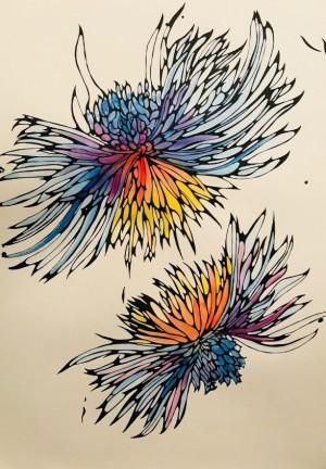 Kira Phoenix K'inan: Explosion of Stardust, 4, watercolour on paper